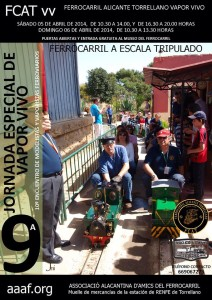 10 Encuentro de aficionados al modelismo ferroviario tripulado, en escala 1/8